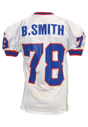 11/6/1994 Bruce Smith Buffalo Bills Game-Used Road Jersey (Photo-Matched • Custom Sides & Tail • Team Repairs)