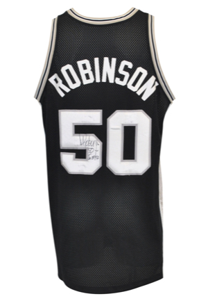 1999-2000 David Robinson San Antonio Spurs Game-Used & Autographed Road Jersey (Full JSA LOA • Photo-Matched)