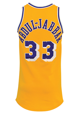 1984-85 Kareem Abdul-Jabbar Los Angeles Lakers Game-Used Home Jersey (Photo-Matched • Championship Season • NBA Finals MVP • Los Angeles Lakers LOA)