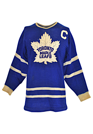 "Circa 1955 Ted ""Teeder"" Kennedy Toronto Maple Leafs Game-Used Wool Captains Sweater (Hobby Fresh • Single Owner Provenance Sourced Directly From The Team • Possible Hart Trophy Season)"