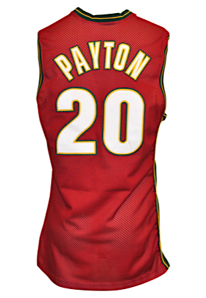 1999-00 Gary Payton Seattle SuperSonics Game-Used Alternate Jersey