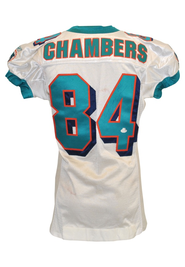 quality design 05b46 61bbb Lot Detail - 11/25/2001 Chris Chambers Rookie Miami Dolphins ...