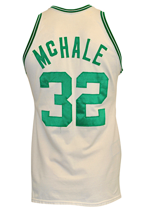 Circa 1983 Kevin McHale Boston Celtics Game-Used Home Jersey