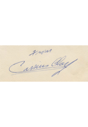 Vintage Cassius Clay Signed Birthday Card (Full JSA LOA • Sourced From The Paloger Collection)
