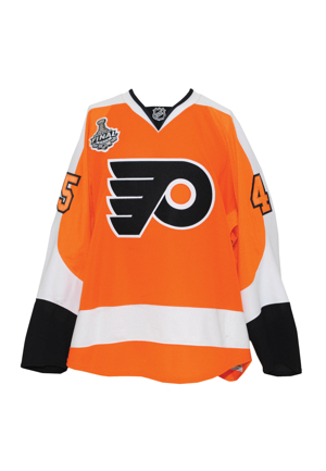 2010 Arron Asham Philadelphia Flyers Stanley Cup Finals Game-Used Home Jersey (Philadelphia Flyers LOA)