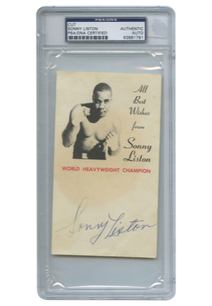 Sonny Liston Encapsulated Autographed Photo Card (JSA • PSA/DNA Graded)