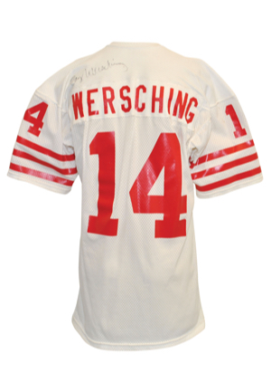 Early 1980s Ray Wersching San Francisco 49ers Game-Used & Autographed Road Jersey (JSA • PSA/DNA)