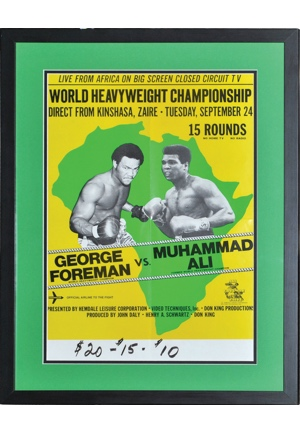 "Muhammad Ali & George Foreman ""Rumble In The Jungle"" Framed Fight Poster"
