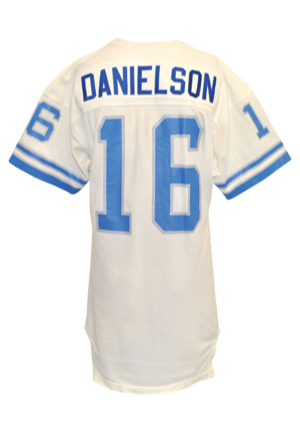 Early 1980s Gary Danielson Detroit Lions Game-Used Road Jersey