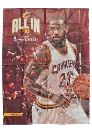 "2016 LeBron James Cleveland Cavaliers 94"" x 70"" NBA Finals Banner (Hung In Quicken Loans Arena)"