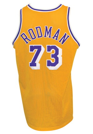 1998-99 Dennis Rodman Los Angeles Lakers Game-Used Home Jersey