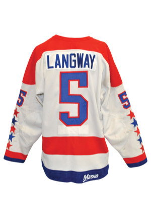1982-83 Rod Langway Washington Capitals Game-Used & Twice Autographed Road Jersey (JSA • Norris Trophy Winner • Repairs)