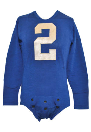 "Circa 1939 Kent ""Rip"" Ryan Detroit Lions Game-Used Wool Durene Home Jersey (Extremely Scarce Example • Graded A10)"