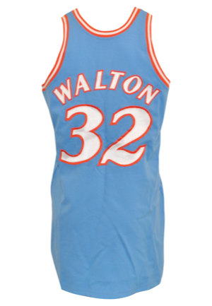 1979-80 Bill Walton San Diego Clippers Game-Used & Autographed Road Jersey (JSA • Equipment Manager LOA)