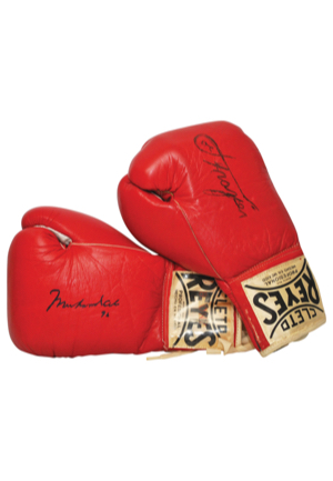 "Pair Of Muhammad Ali & Joe Frazier Autographed Boxing Gloves (JSA • Sourced From The Estate Of Ronald ""Butch"" Lewis)"
