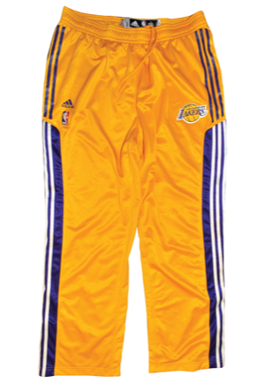 2002-03 & 2010-11 Kobe Bryant Los Angeles Lakers Player-Worn Warm-Up Home Pants (2)(D.C. Sports LOAs)