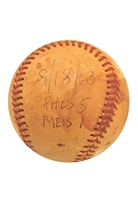 9/18/1963 New York Mets vs. Philadelphia Phillies Game-Used Baseball (Last Game Ever At Polo Grounds)