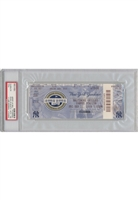 Encapsulated 9/11/2009 New York Yankees Full Game Ticket (PSA/DNA Graded Authentic • Jeter Passes Gehrig as Yankees Hits Leader • Championship Season)