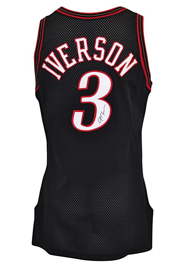 online retailer 3a447 b7233 Lot Detail - 1999-00 Allen Iverson Philadelphia 76ers Game ...