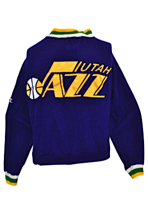 1992 John Stockton Utah Jazz Player-Worn Warm-Up Suit (2)
