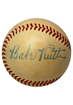 High Grade Babe Ruth & Early Wynn Dual Autographed OAL Baseball (Full JSA • PSA/DNA Encapsulated • Great Source)