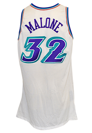 2001-02 Karl Malone Utah Jazz Game-Used Home Jersey (9/11 Ribbon)