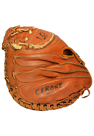 Rick Cerone New York Yankees Game-Used & Autographed Catchers Mitt & Bat (2)(JSA • Apparent Photo-Match)