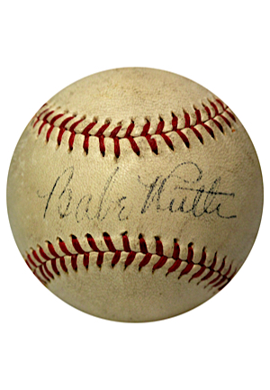 1930s Babe Ruth Single-Signed Official American League William Harridge Baseball (Full JSA)