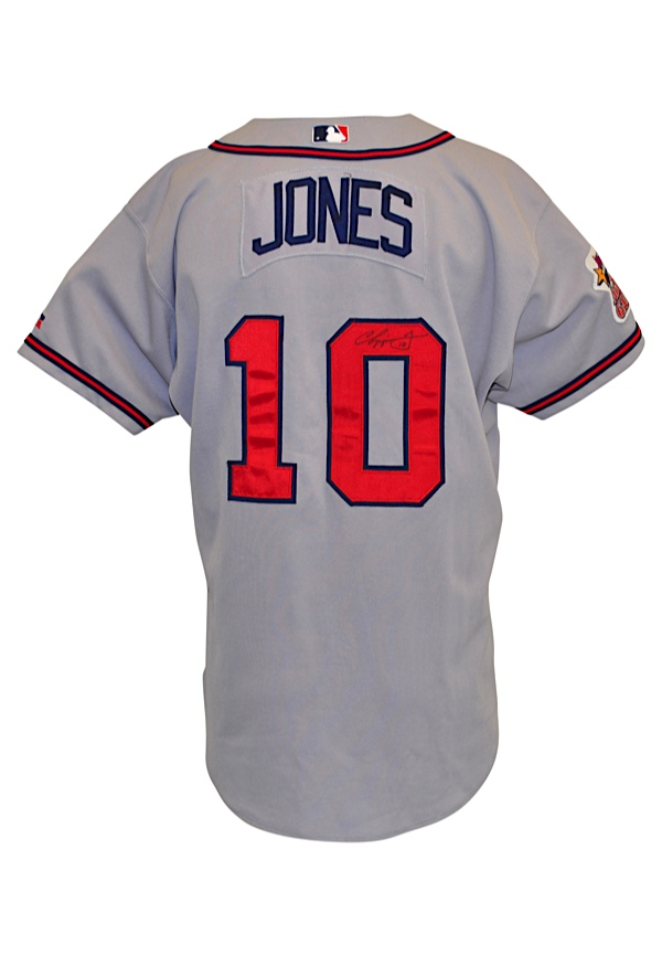 cheap for discount 88c18 5521b Lot Detail - 2000 Chipper Jones Atlanta Braves Game-Used ...