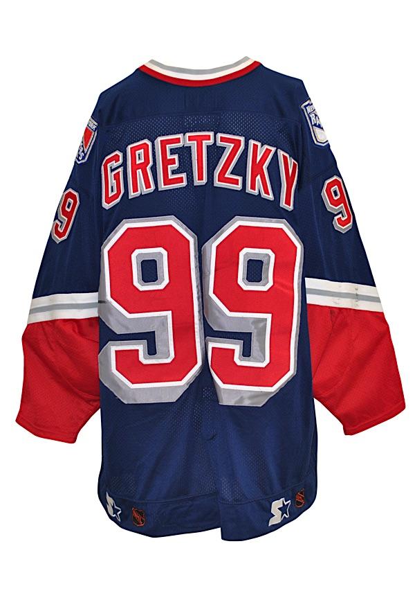 wholesale dealer 41a24 6d142 Lot Detail - Circa 1999 Wayne Gretzky New York Rangers Game ...