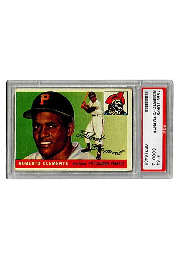 Lot Detail 1955 Roberto Clemente Pittsburgh Pirates Rookie