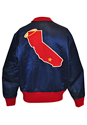 Circa 1974 California Angels Player-Worn Satin Jacket Attributed To Bill Singer