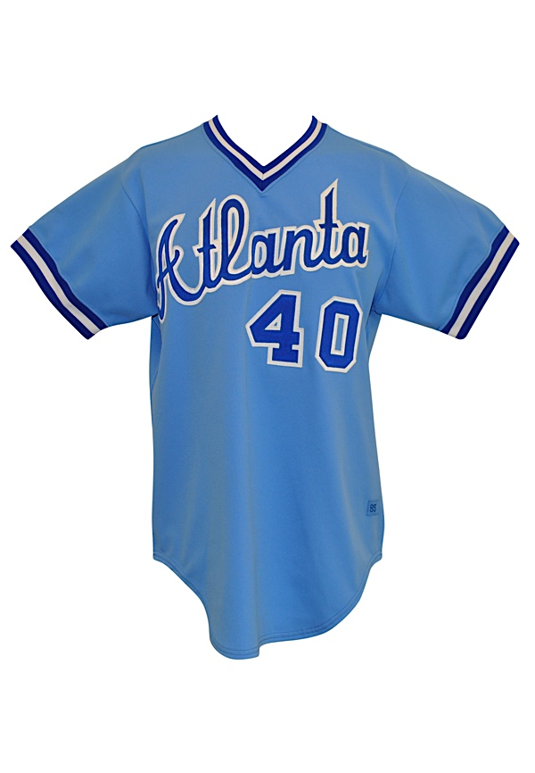 b639e17dd1e Lot Detail - 1985 Bruce Sutter Atlanta Braves Game-Used Road Jersey