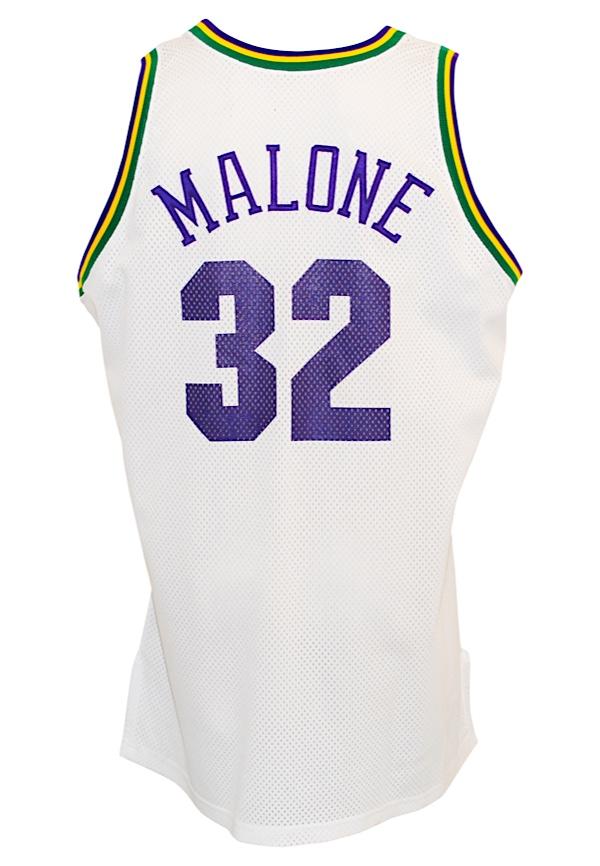 1345578f1 Lot Detail - 1993-94 Karl Malone Utah Jazz Game-Used Home Jersey ...