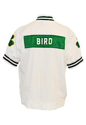 1989-90 Larry Bird Boston Celtics Player Worn Warm-Up Suit (2)(Basketball Hall of Fame LOA)