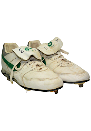 Circa 1987 Dennis Eckersley Oakland As Game-Used Cleats