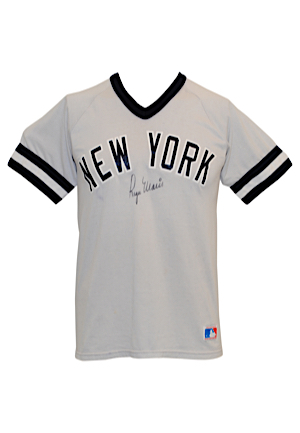High Grade Roger Maris New York Yankees Autographed Replica Jersey (Full PSA/DNA • Very Rare)