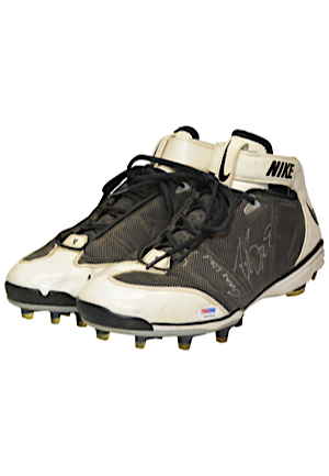 Circa 2008 Drew Brees New Orleans Saints Game-Used & Dual Autographed Cleats (JSA • PSA/DNA)