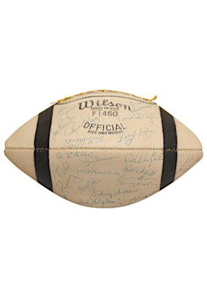 1964 Cleveland Browns Team-Signed Football Including Jim Brown (JSA • Championship Season • Bobby Franklin LOA)