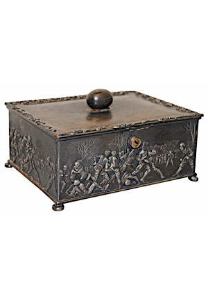 Circa 1897 Reed & Barton Silver Plate Football Box
