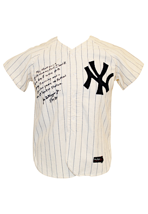 Mid 1950 Joe DiMaggio Jr. New York Yankees Father-Son Day Worn & Autographed Flannel Jersey (PSA/DNA • Gifted To Him By His Father)