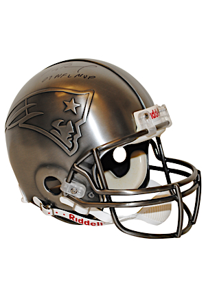 Tom Brady New England Patriots Autographed & Inscribed Limited Edition Pewter Helmet (JSA • Field Of Dreams • 1 of 12)