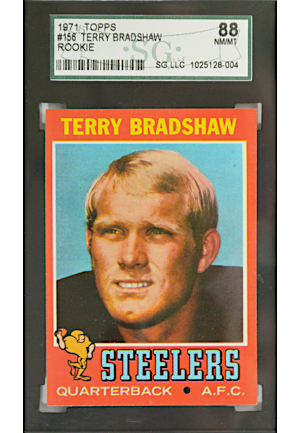 1971 Topps Terry Bradshaw #156 (Graded NM/MT 88)