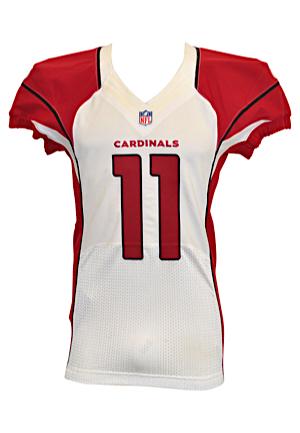 Nice Lot Detail 2012 Larry Fitzgerald Arizona Cardinals Game Used
