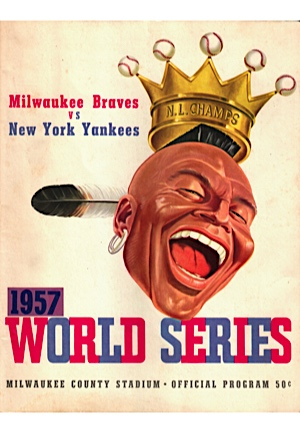 1957 & 1958 Official World Series Programs (2)