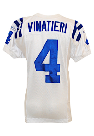2011 Adam Vinatieri Indianapolis Colts Game-Used Road Jersey (Colts LOA • Photo-Matched to 10/30/11)