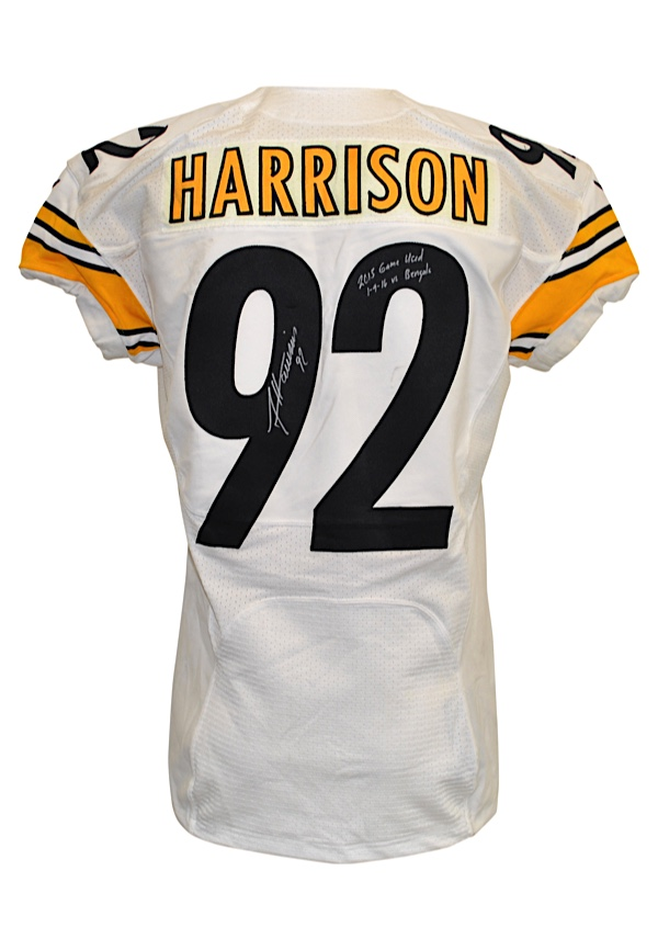 Lot Detail - 1 9 2016 James Harrison Pittsburgh Steelers Playoff ... fa71d1c7388d