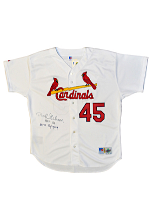 Bob Gibson St. Louis Cardinals Autographed Home Retail Authentic Jersey (JSA)