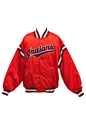 1990s Cleveland Indians Player-Worn Heavy Weight Jacket Attributed To #45 (Team Stamp)