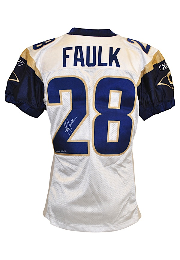 huge selection of bc77c b0365 Lot Detail - 2002 Marshall Faulk St. Louis Rams Game-Used ...